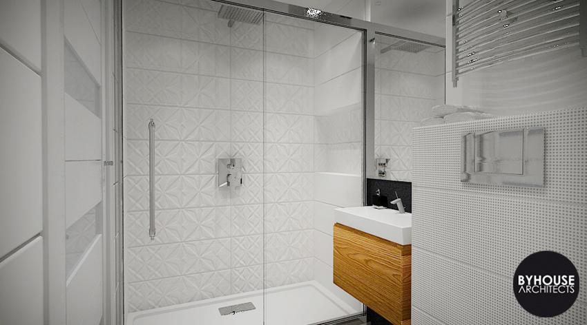 Projekt łazienki Byhouse Architects