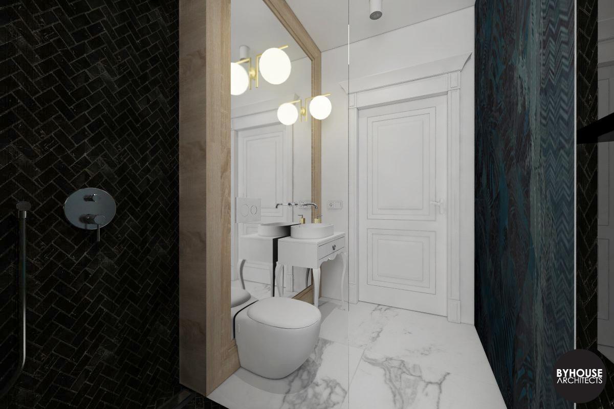 3. projektowanie wnętrz białystok_łazienka klasyczna nowoczesna byhouse architects