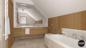 1 BYHOUSE ARCHITECTS projekt łazienki łazienka w drewnie łazienka nowoczesna