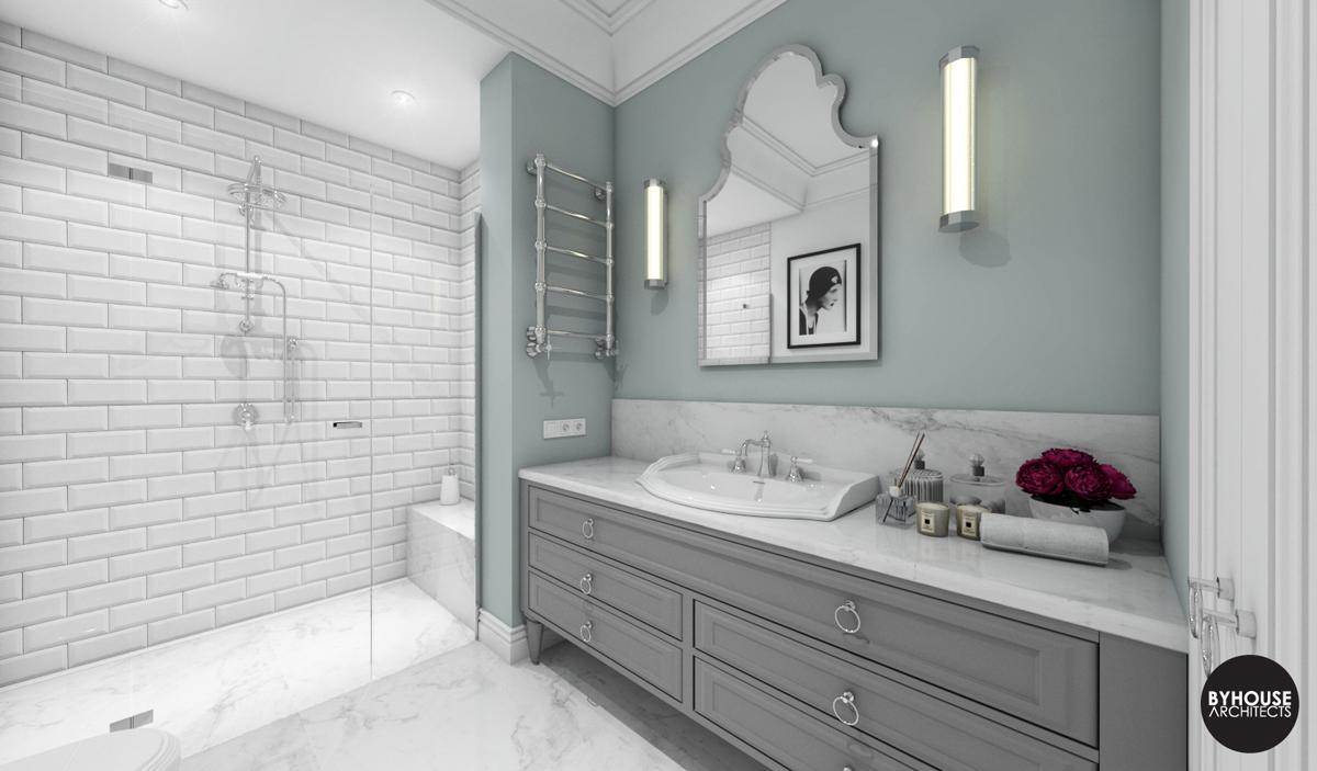 1 byhouse architects projekt łazienki styl new york