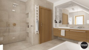 2 BYHOUSE ARCHITECTS projekt łazienki łazienka w drewnie łazienka nowoczesna