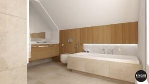 3 BYHOUSE ARCHITECTS projekt łazienki łazienka w drewnie łazienka nowoczesna