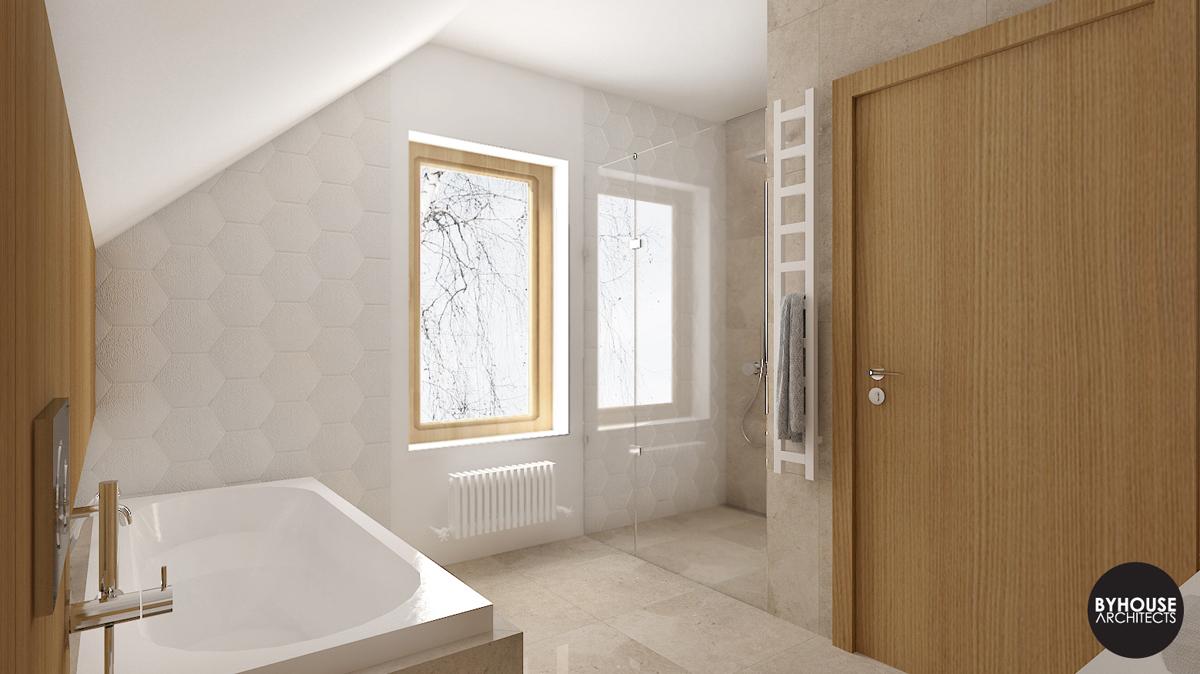 4 BYHOUSE ARCHITECTS projekt łazienki łazienka w drewnie łazienka nowoczesna